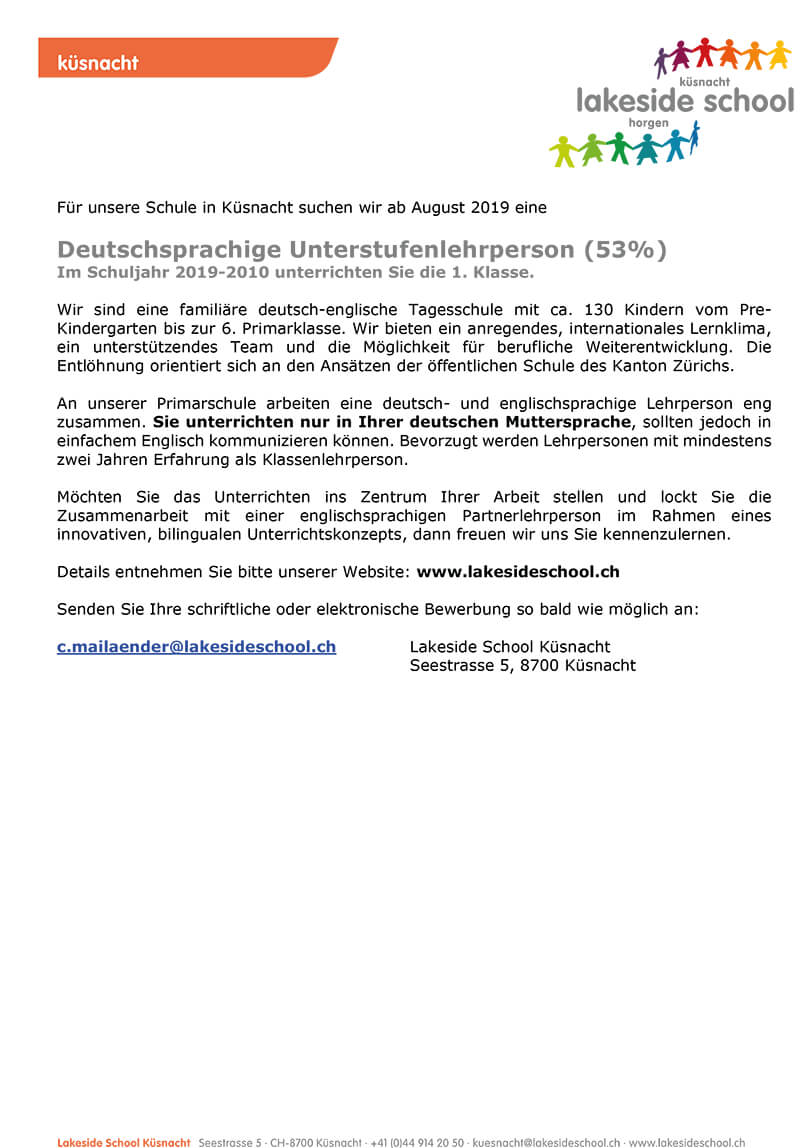 lakeside school USlehrperson Juni 2019